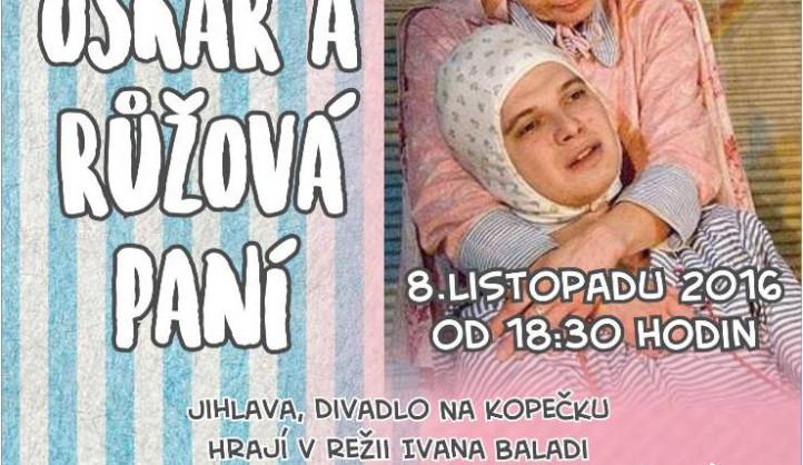 Hospicová péče Bárka zve na divadelní představení Oskar a růžová paní