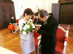 Láska z Pasáže: Manželé Derahovi oslavili na jihlavské radnici zlatou svatbu