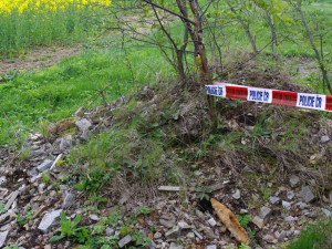 FOTO: V Polné se našel nebezpečný granát. Pyrotechnik ho musel na místě odpálit