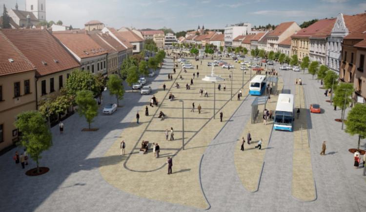 Revitalizace třebíčského náměstí by mohla začít za rok. Změní se chodníky i parkování