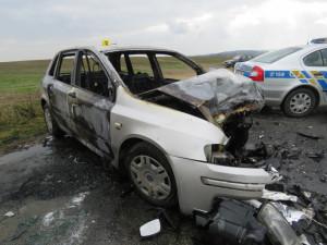 AKTUÁLNĚ: Tragická nehoda u Velkého Beranova. Jeden člověk zemřel, další dva lidé se zranili