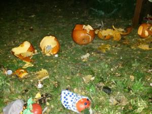 Vandalismus na jihlavském sídlišti: Zničené dýně nás určitě neodradí, reagují místní obyvatelé