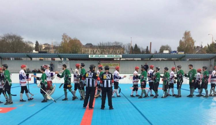 Jihlavští hokejbalisté hráli letos naposledy doma, brněnské Bulldogs porazili na nájezdy
