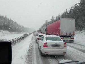Sjízdnost dálnic bude v zimě zajišťovat 183 sypačů. U Humpolce je nové stanoviště