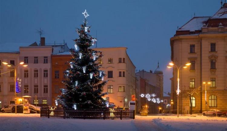 Vánoce v Jihlavě: Letošní stromeček na Masarykově náměstí bude osvětlen novými vločkami