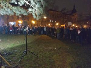 Demisi! V Jihlavě protestovalo několik stovek lidí proti premiéru Babišovi