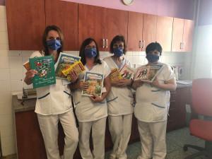 Děti zdravotníků z jihlavské nemocnice se mohou těšit na oblíbené knížky