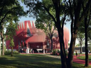 FOTO: Horácká aréna s korunou ježka. Bude měnit barvy jako chameleon