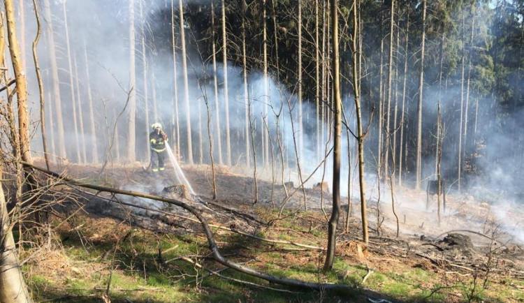 Na Vysočině platil zákaz rozdělávat oheň. Za čtyři týdny padlo celkem 14 pokut