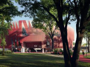 GALERIE: Chystaná víceúčelová aréna Jihlavy podobou fasády připomene ježka
