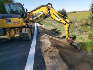 Vysočina má další opravené úseky silnic. Hotovo je u Štoků, na I/19 se finišuje