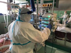 V jihlavské nemocnici ubylo pacientů s covidem. Sedm z nich je ve vážném stavu