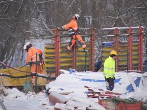 FOTO: Práce na jihovýchodním obchvatu Havlíčkova Brodu pokračují i přes zdržení