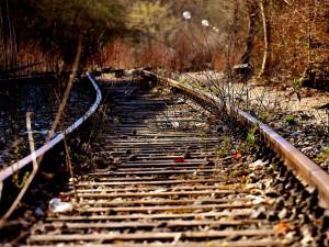Na trať někdo naházel dřevěné kůly. Strojvedoucí rychlíku použil rychlobrzdu, přesto do překážky narazil