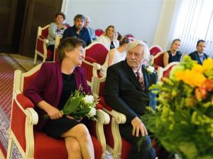 Padesát let spolu. Dva páry na jihlavské radnici oslavily zlatou svatbu, jaký je jejich recept na štěstí?