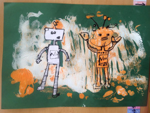 Žáci jihlavské školy zazářili na lidické prestižní výtvarné soutěži. Tématem byl robot