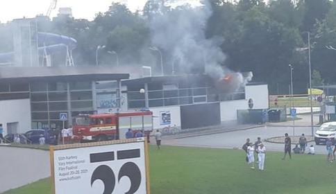 Ve Vodním ráji dneska odpoledne hořelo, požár se obešel bez zranění