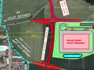 Zastupitelé Velkého Beranova: V obci bude znovu referendum o stavbě logistického centra Penny Marketu