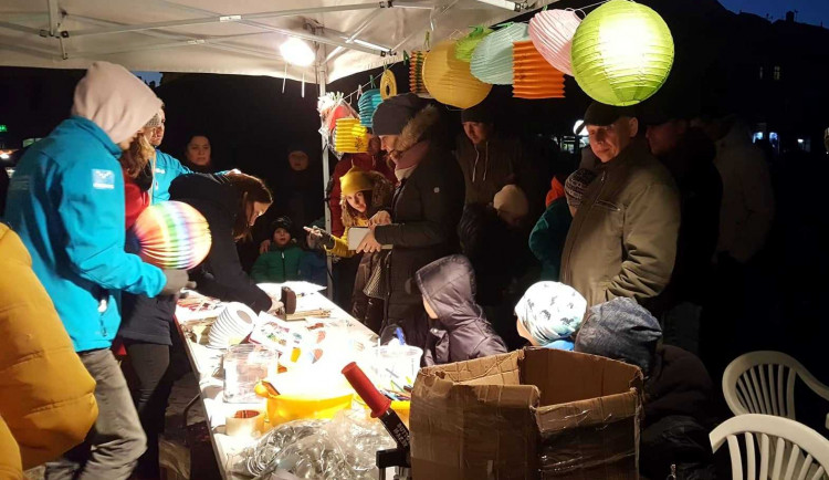 Listopadový lampionový průvod v Jihlavě