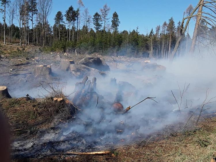 Požáry na Vysočině 6.4.2020