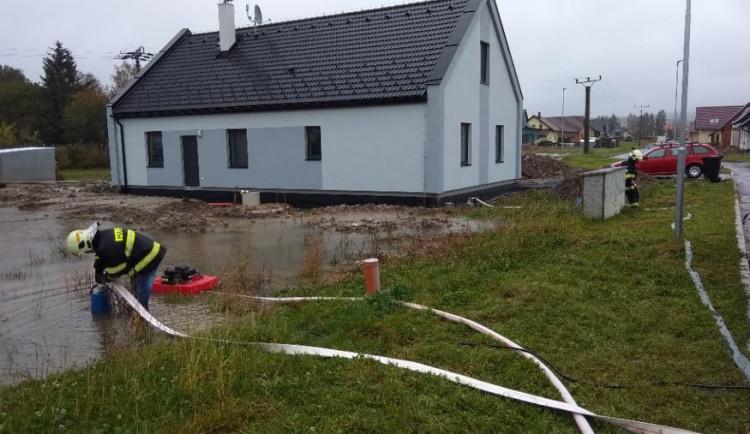 Přívalový déšť na Vysočině, řeka Svratka, 14.10.2020