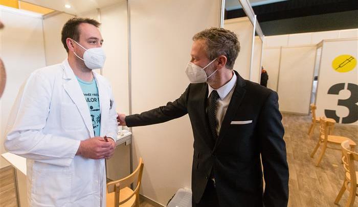 Spuštění provozu prvního očkovacího centra na Vysočině