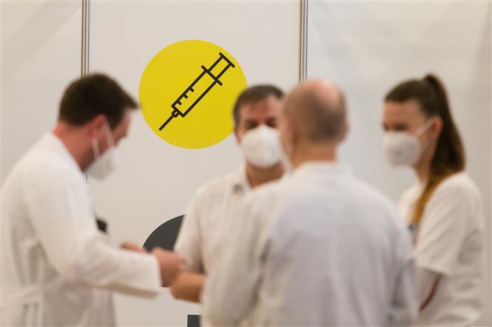 První očkovací centrum na Vysočině, Pelhřimov, KD Máj
