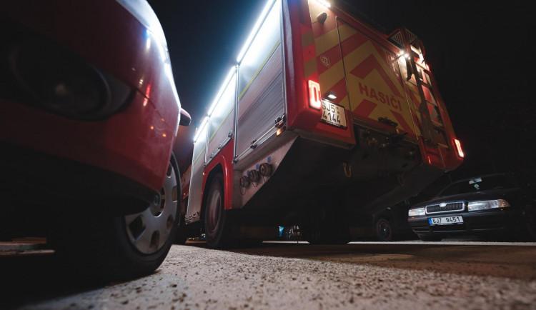 Průjezd hasičských aut ulicemi Třebíče