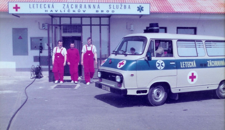 Letecká záchranka v Jihlavě slaví 30 let
